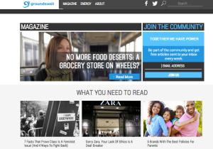 Groundswell Magazine web homepage
