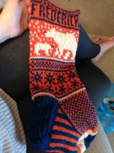 Special request for an orange and blue stocking... proud of the result!