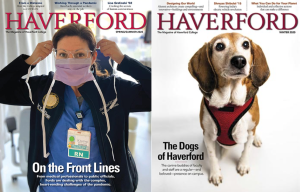 Haverford College magazine covers